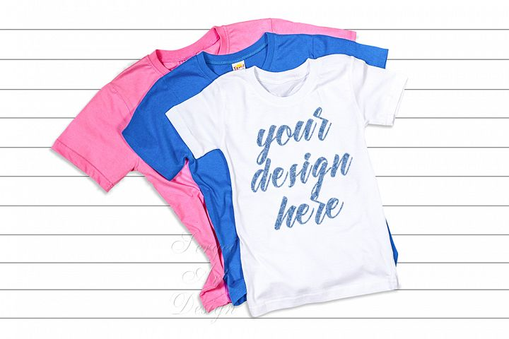 T-Shirt mock up, unisex adult clothing flatlay