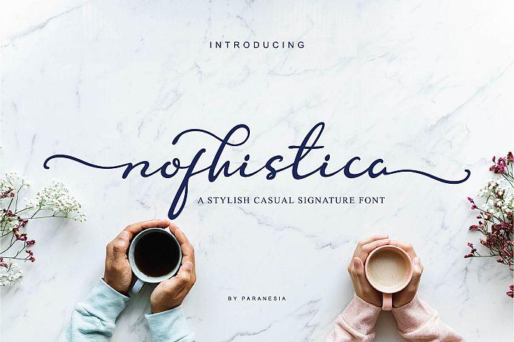 Nofhistica Script Font