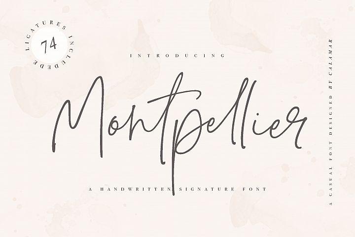 Montpellier | Signature Font
