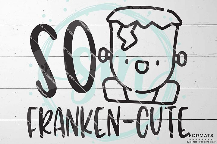 Franken-Cute Halloween SVG