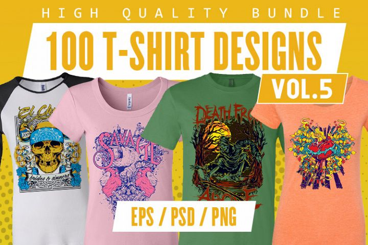 100 T-shirt Designs Vol 5