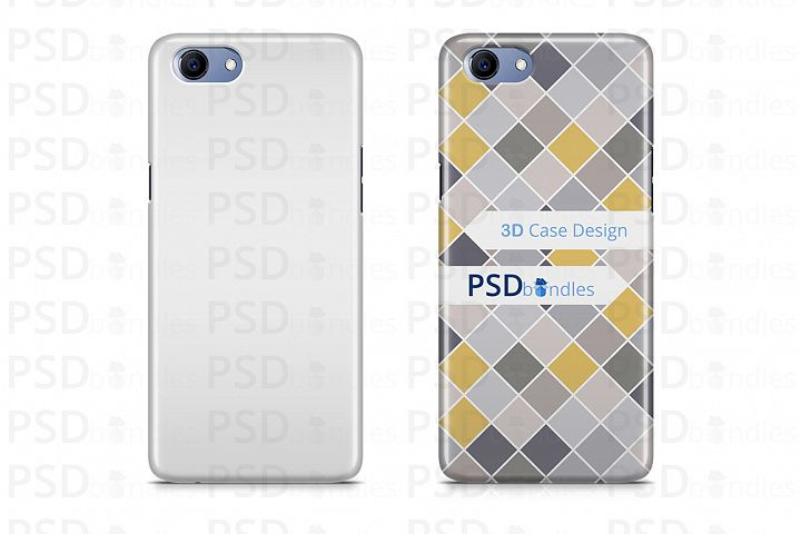 Oppo Real Me 1 3d Case Design Mock-up Back View