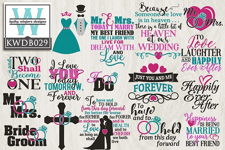 BUNDLE Wedding SVG - Wedding Bundle KWDB029