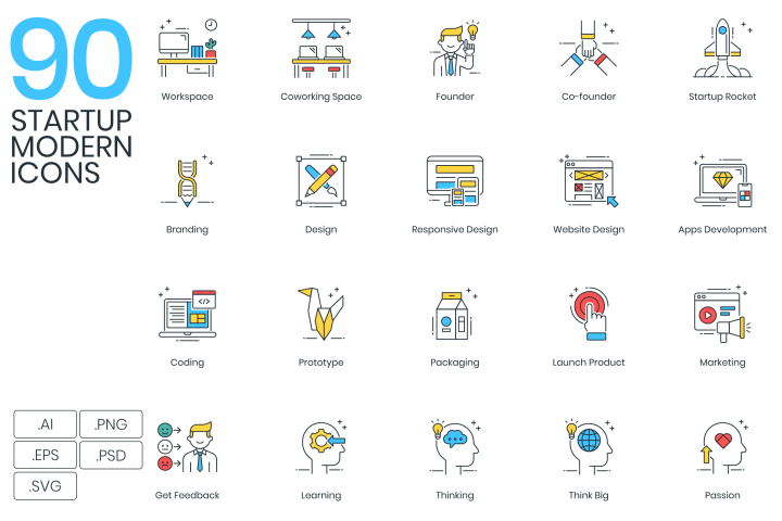 90 Startup Modern Icons