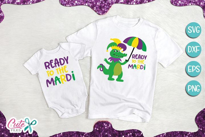 Ready to the mardi, crocodile svg for crafters