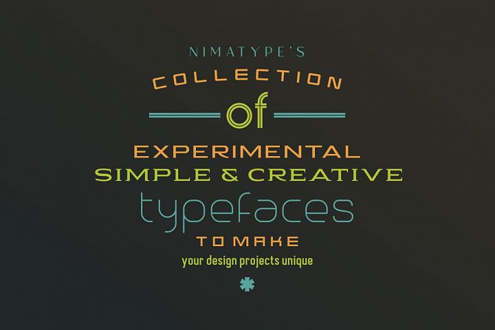 NimaTypes Collection of Typefaces