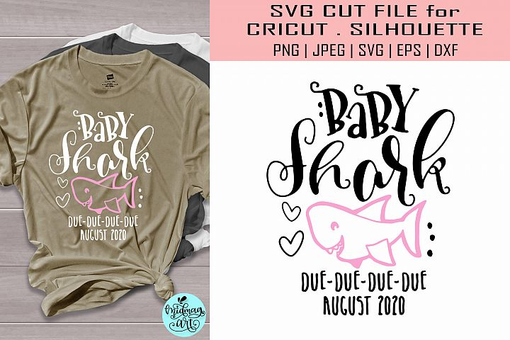 Baby shark due August svg, baby shark due svg