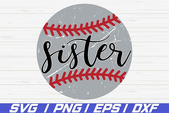 Baseball Sister SVG / Cricut / Cut File / Commercial use