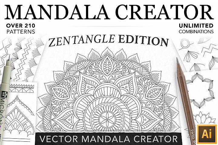Zentangle Mandala Creator Addon for Illustrator