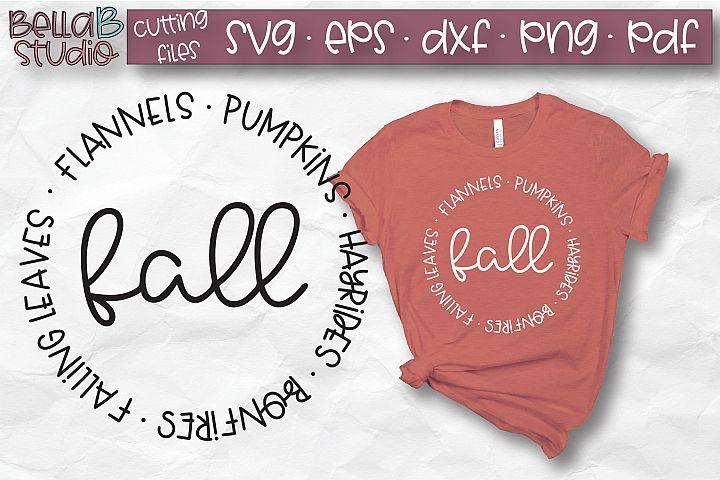 Flannels Pumpkins Hayrides Bonfires Falling Leaves SVG, Fall