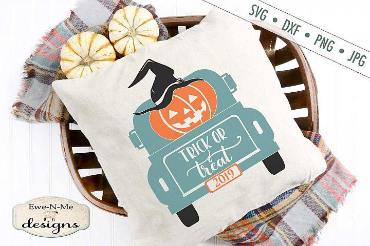 Trick or Treat - Truck - Halloween - Jack o Lantern SVG