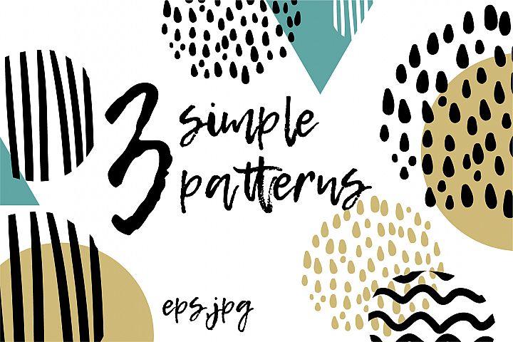 3 simple patterns