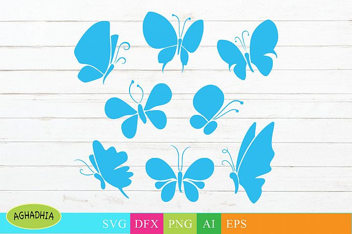Butterfly Vector Icons/ Butterflies Illustration.