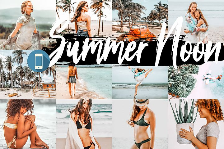 5 Summer Noon Mobile Lightroom Presets, warm orange preset