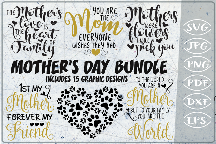 Mothers Day Bundle SVG Cutting Files