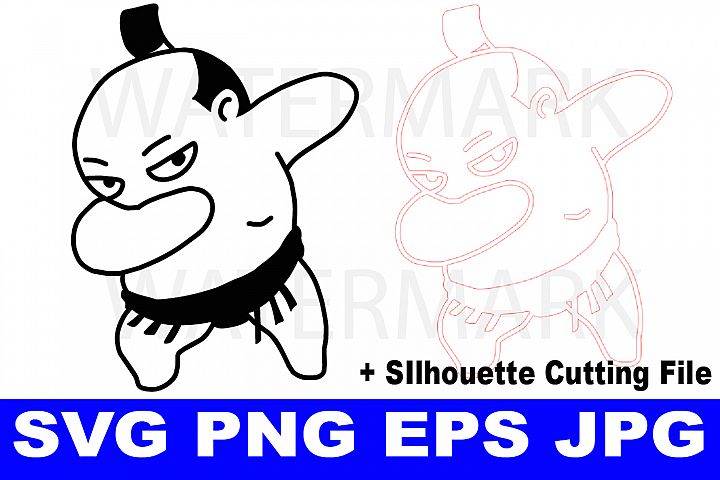 Sumo Dabbing - EPS, JPG, PNG, SVG Ready to use
