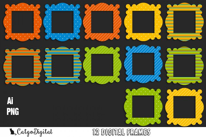 Digital Frames Clip Art elements