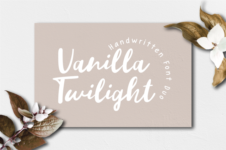Vanilla Twilight // Handwritten Font Duo
