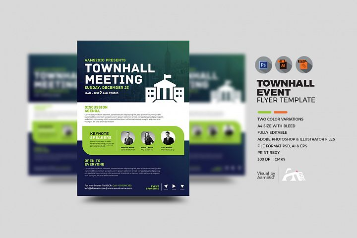 Townhall Event Flyer Template