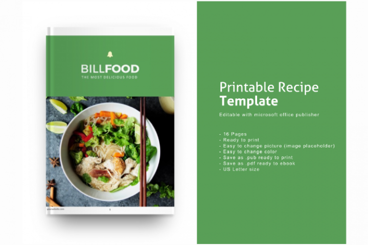 Recipe eBook Template Editable Using Ms Publisher