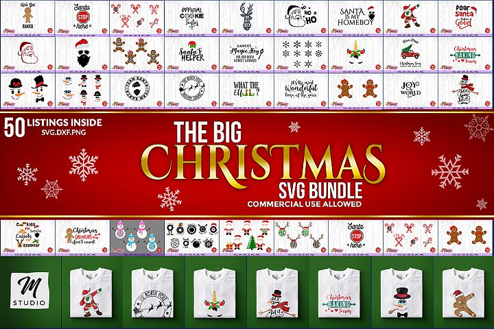 The big christmas svg bundle, Christmas SVG Cut File.