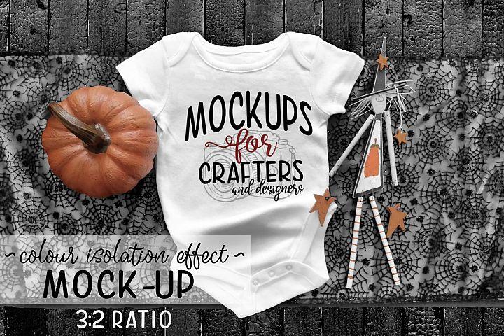 Baby Bodysuit - Halloween Theme Mock-Up