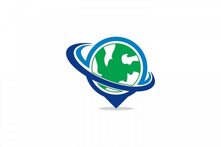 globe swoosh logo