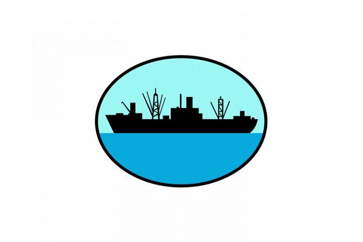 World War Two Attack Cargo Ship Retro