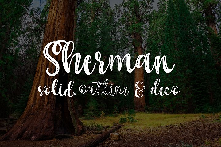 Sherman Trio - Free Font of The Week