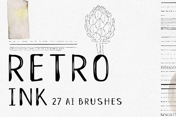 Retro Ink AI Brushes