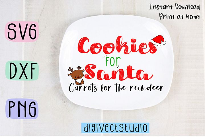 Cookies for Santa - SVG, DXF, PNG cut file - Cutting file.