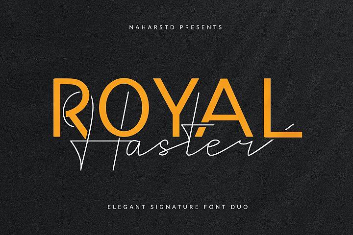 Royal Haster | Elegant Signature Font Duo