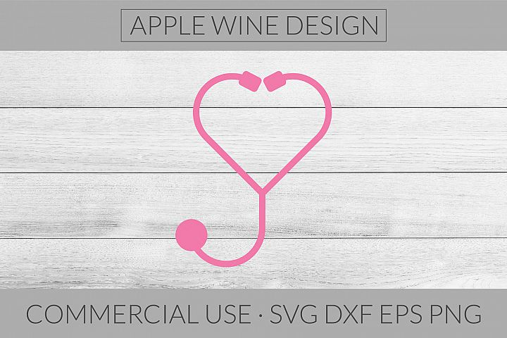 Stethoscope SVG DXF PNG EPS Cutting File