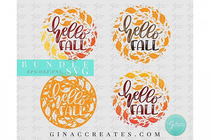 Hello Fall SVG Bundle, Autumn Leaves SVG