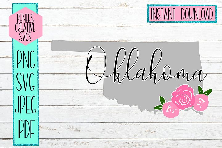 Oklahoma Floral | State SVG | SVG Cutting file