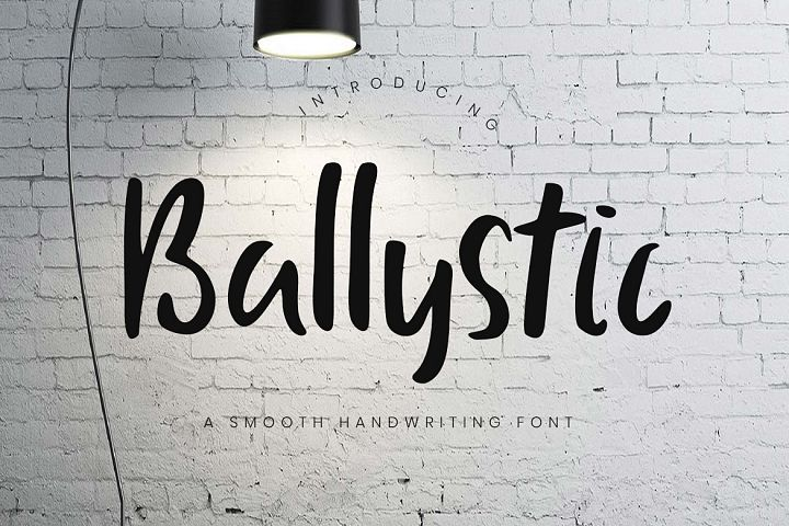 Ballystic Handwriting Typeface