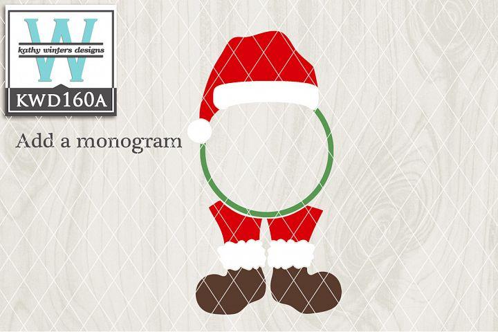 Christmas SVG - Christmas Monogram KWD160A