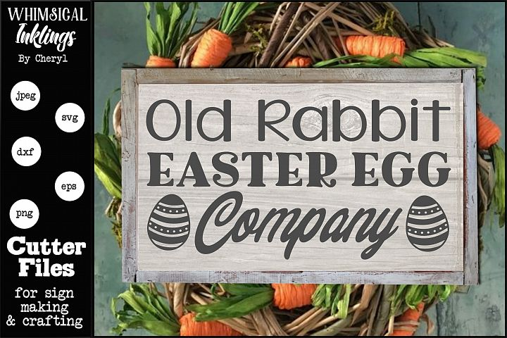 Old Rabbit-Easter SVG