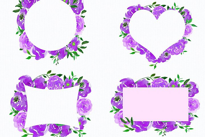 Wedding, Wedding Invitation Clipart, watercolor Flowers example 3
