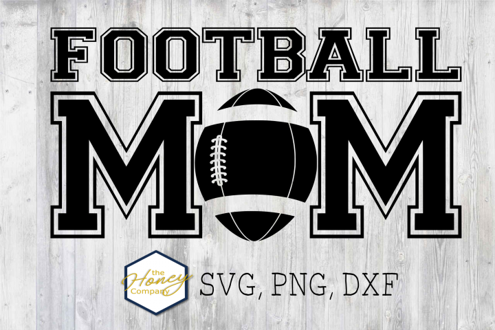 Football Mom SVG PNG DXF Hand Lettered Clip Art Cut Files