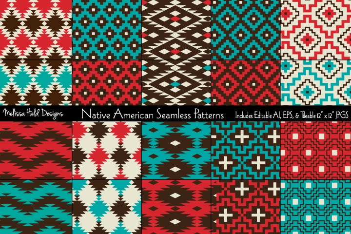 Native American Seamless Patterns