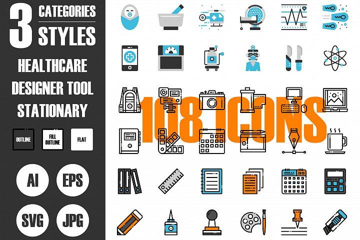 108 Pixel Perfect Icons Vol.3