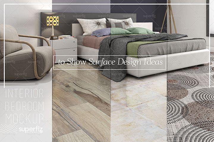 Blank Floor PSD Mockup Bedroom SM84