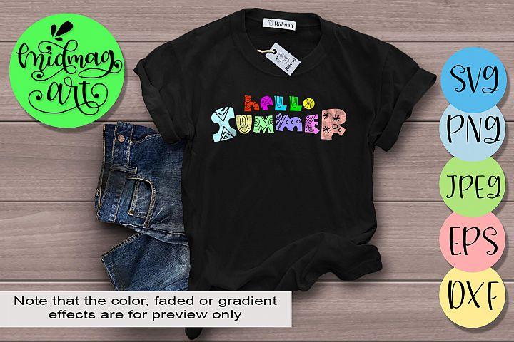 Hello summer svg, Summer svg
