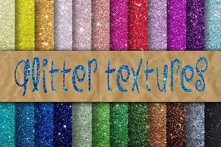Glitter Digital Paper - Free Design of The Week