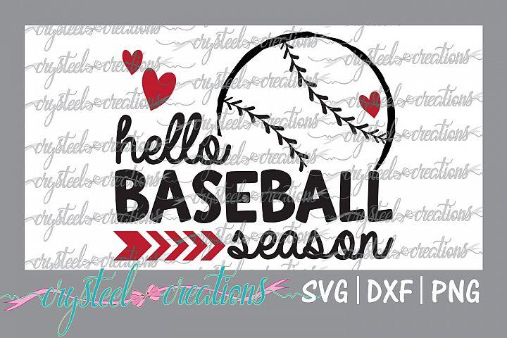 Hello Baseball Season SVG, DXF, PNG