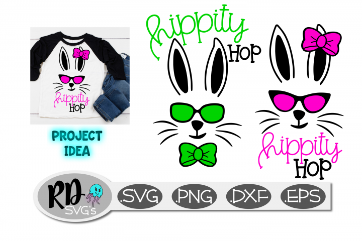 Easter SVG - Hippity Hop SVG, a cut file for Easter Shirts