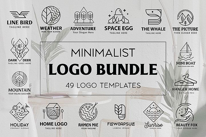 Monoline Logo Templates Bundle