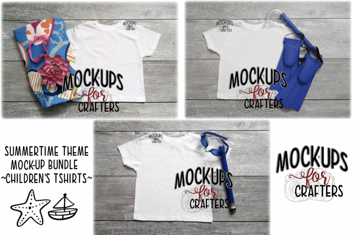 MOCK-UP BUNDLE - Kids Gildan Tshirts BeachTheme