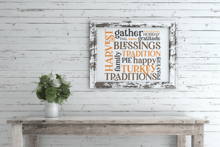 Thanksgiving Fall Wood Sign SVG